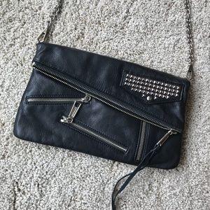 Black Leather Rebecca Minkoff Studded Purse